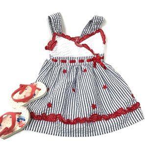 Youngland baby girl seersucker dress bow